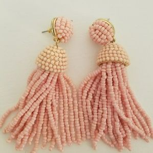 Nwot BaubleBar Pink Tassel Earrings